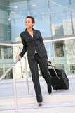 Business Woman Travelling poster