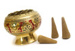 gold candlestick for aroma relaxation