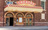 Vintage old time movie theatre marque
