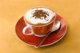 Fototapety cappuccino mit schokolade-streusel