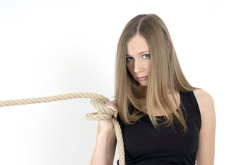 girl with the rope