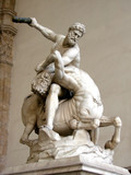 Statue of Hercules killing the Centaur