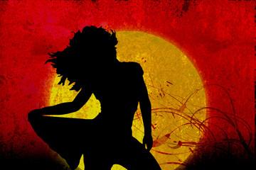 Tramonto con donna Grunge - Swirl