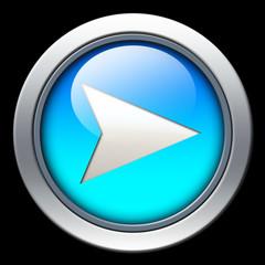 Blue navigation icon