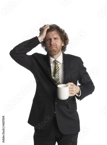 Streesed businessman