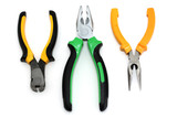 Pliers, end cutting nippers and bent pliers poster