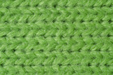 Green knitted wool close up poster