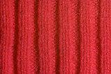 Red knitted wool close up poster