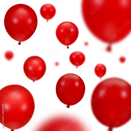 Background of red party balloons