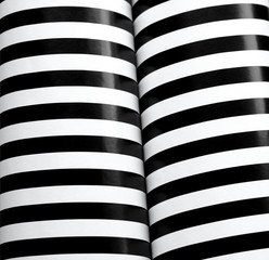 black and white stripes in column form
