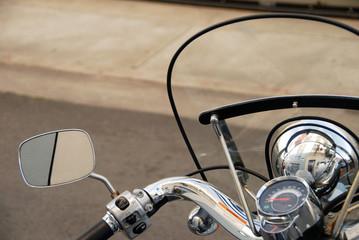 Motor scooter handlebars