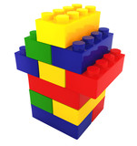 Fototapety lego color block house