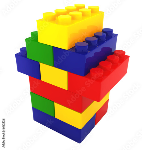 lego color block house