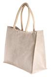 linen shopping bag isolated on white poster