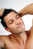 haare frisur mann männlich dusche poster