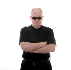 Bald Man in Black