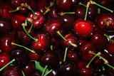 Ruby red cherries poster