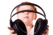Child holding headphones