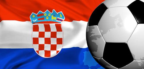 euro 2008 -national flag of croatia