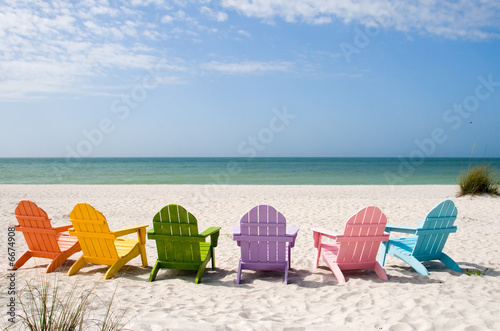 Tuinposter Ontspanning Summer Vacation Beach