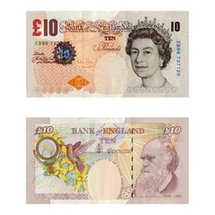 Money / Ten Pounds / 10 GBP