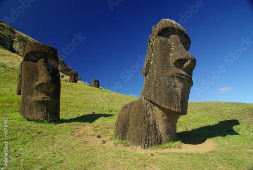 Statues à l'île de Paques