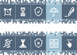 Blue dots bar with software icons poster