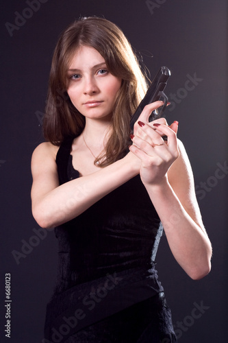 lady and gun