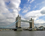 Tower Bridge, full length, in London, UK. poster