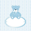 roleta: Teddy bear for baby boy - baby arrival announcement