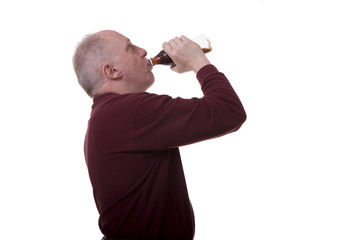 Man Drinking Cola
