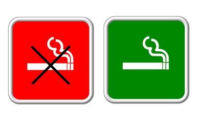 rauchen verboten - rauchen erlaubt