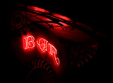 Bar neon in a modernist marquee poster