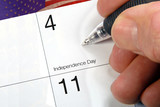 Calendar Date 4th Of July poster