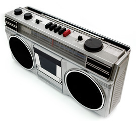 1980s style portable cassette player radio perfect for retro sty