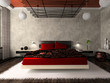 Luxurious bedroom in red