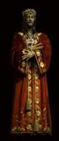 Jesus Christ dressed up medieval statue poster