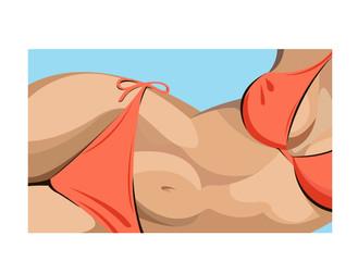 woman bikini sea vector