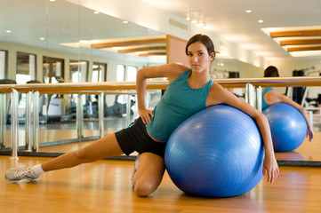 Fitball Stretch In Gym