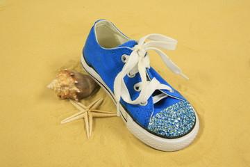 Sneaker, Seashells & Sand