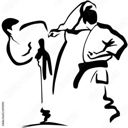 karate kämpfer - 6703193