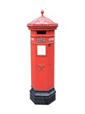 A Traditional Victorian Post Box. poster