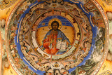 icon in  bulgarian Rila  monastery,built in year 1844 poster