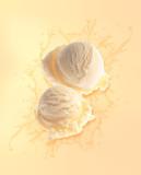 Fototapety Ice-cream splashing in liquid