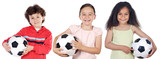 Fototapety children with soccer ball