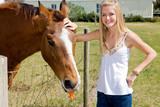 Farm Girl & Horse poster