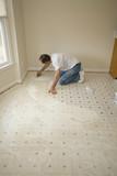 Installing new flooring poster