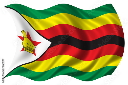 zimbabwe flag isolated