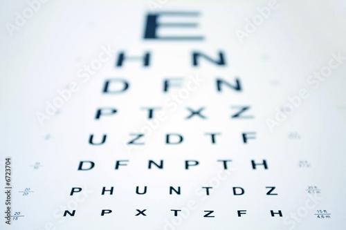 Leinwanddruck Bild Snellen Eye Chart