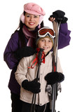 Skiers ready for some recreational fun poster